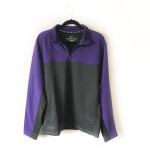 Nike Therma Fit Quarter Zip Grey and Purple